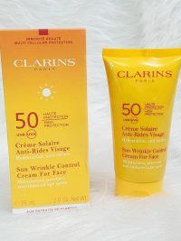 کرم ضد آفتاب کلارینس SPF50 حجم 75 مل